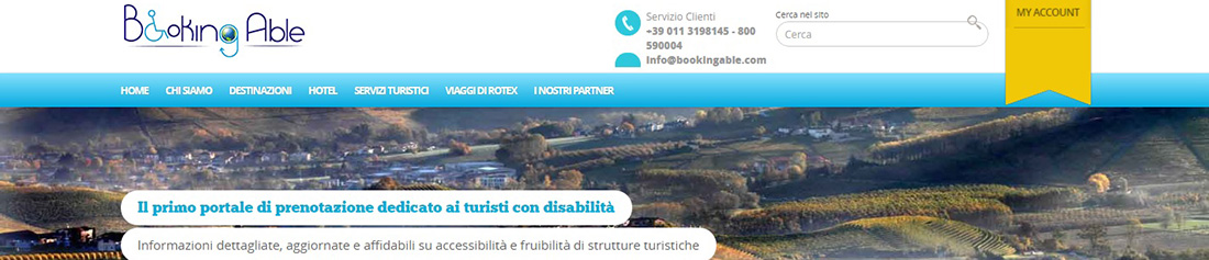 La home page del portale bookingable.com