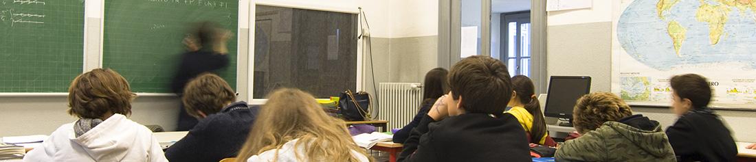 Aula scolastica durante una lezione